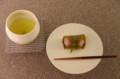 [うおがし銘茶]茶・銀座 2階で甘楽の桜餅