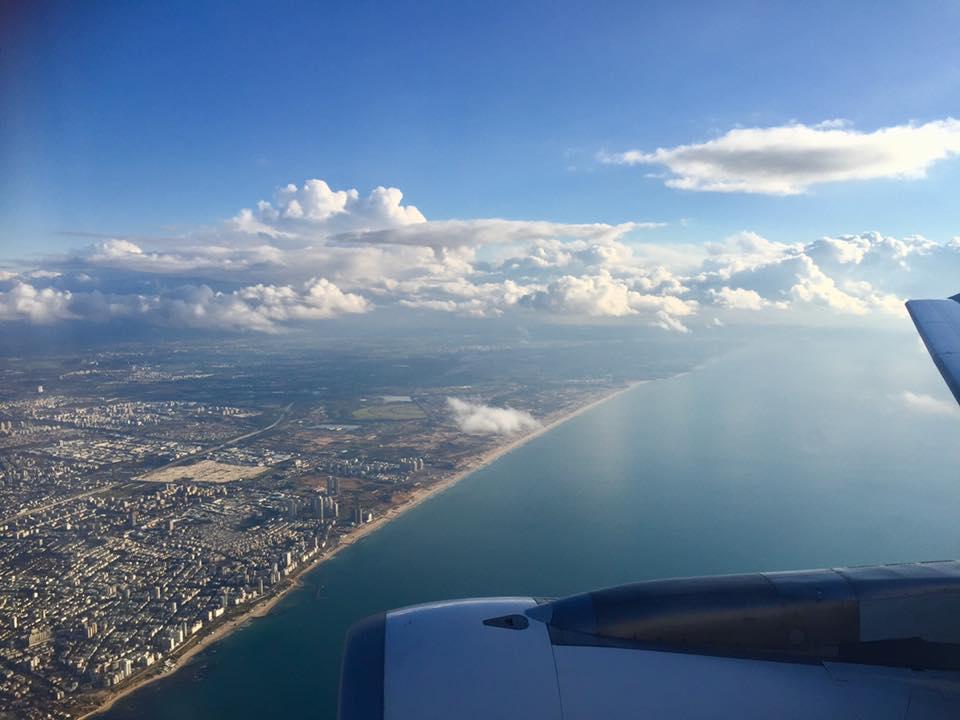 飛行機から見たイスラエルの景色
