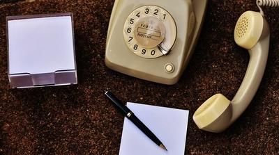 電話とメモ