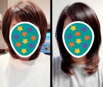 髪の伸び方