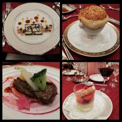 ディナーショーの料理
