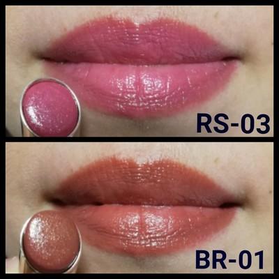 口紅塗布後の唇