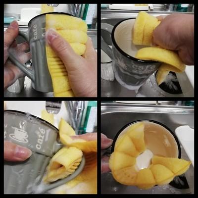 コップを洗う