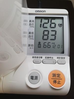 血圧計の液晶画面