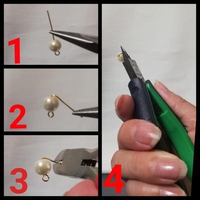 イヤリングの作り方の手順