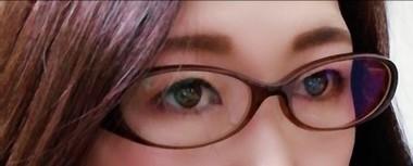 眼鏡をかけた状態