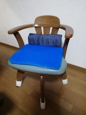 ゲルクッションを敷いた椅子
