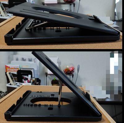 ノートパソコンスタンドの角度域
