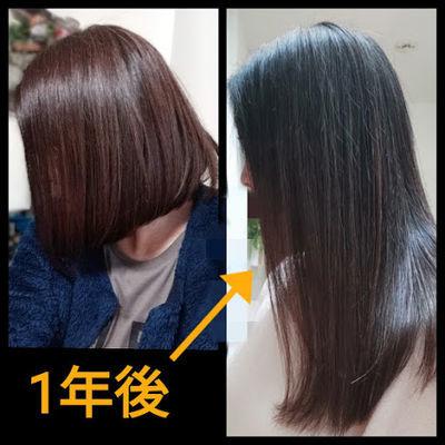 髪が1年で伸びる長さ横からの比較