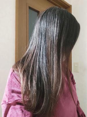 湯シャンの髪
