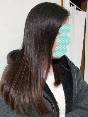 アイロンを使用した髪