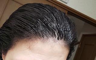 カラートリートメントを塗った髪