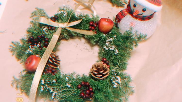 クリスマスリース完成