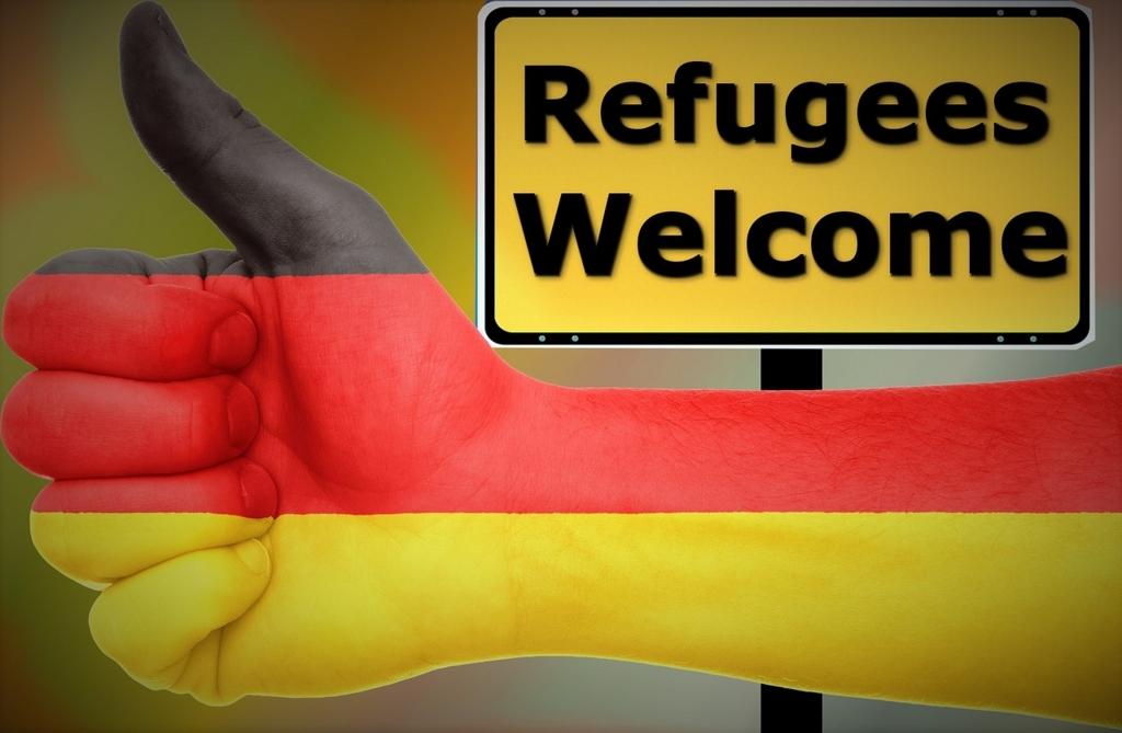 ドイツでは難民歓迎