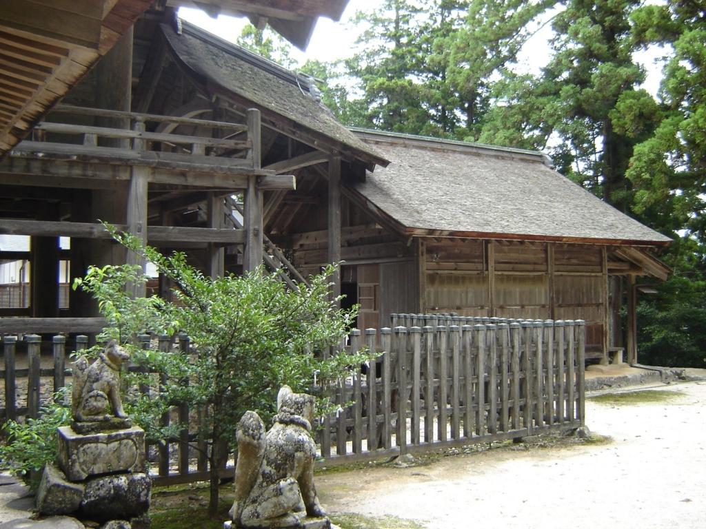 神魂神社の大社造りの本殿