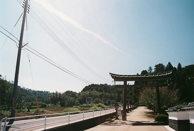 神魂神社の入り口は森への入り口でもある