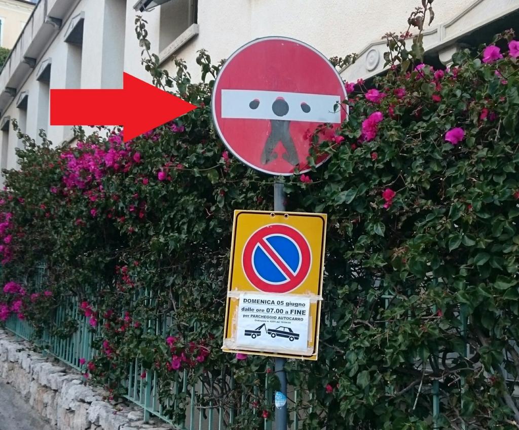 グラフィティ、道路標識はギロチン台