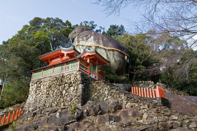 神倉神社の巨石