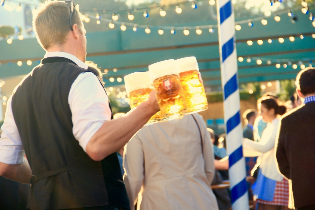 オクトーバーフェストの名物、ビール