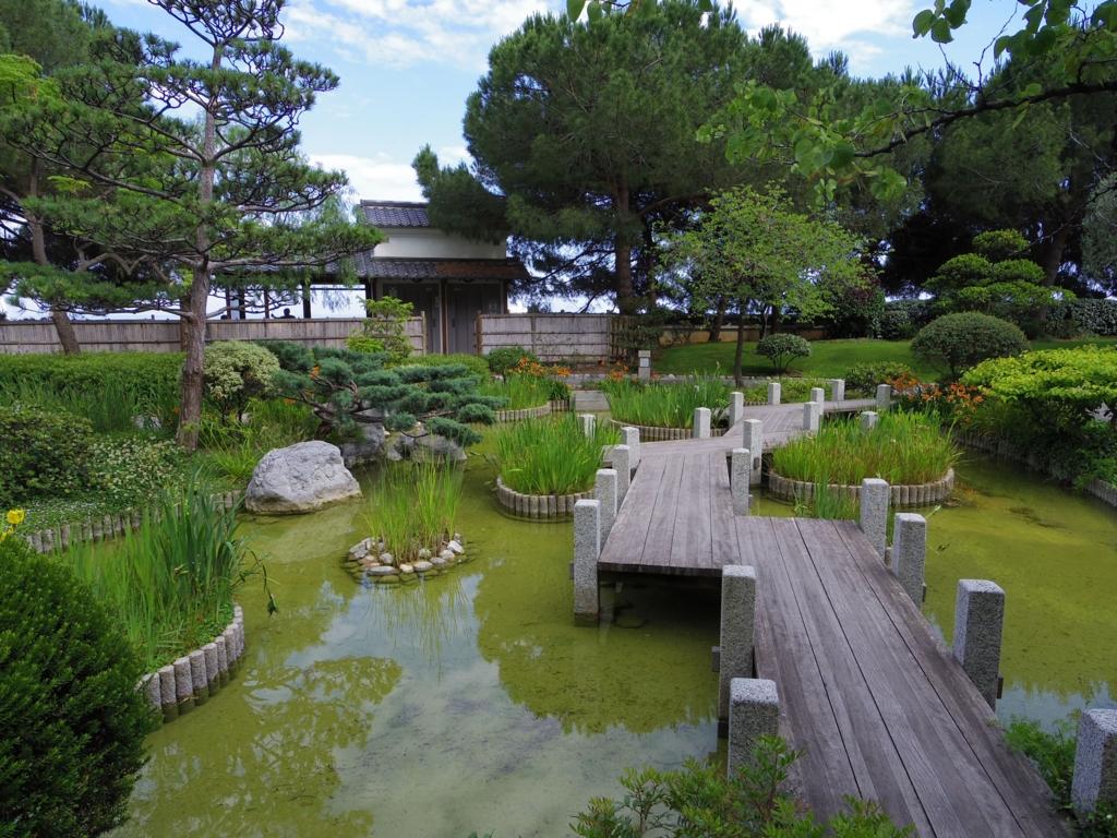モナコにある日本庭園