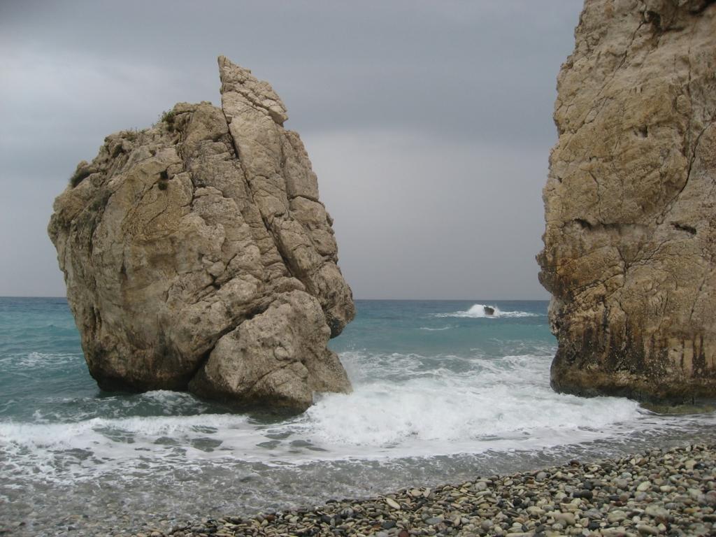 アフロディテ伝説に由来する海岸