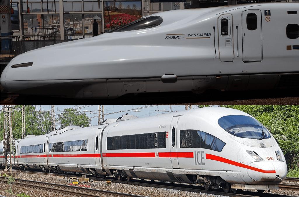 日本の新幹線とドイツのICE