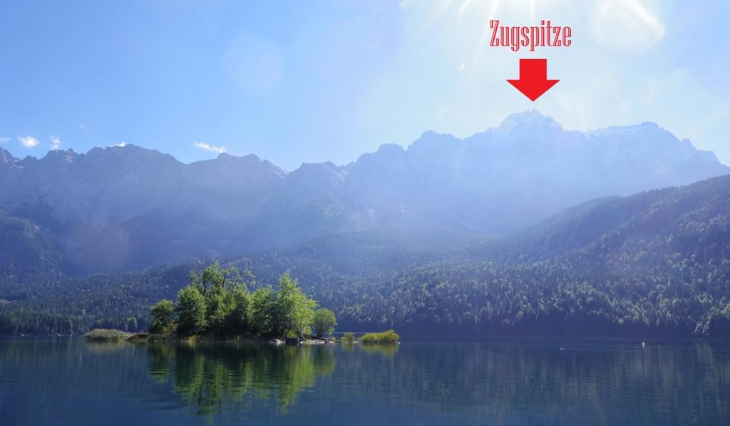アイプ湖から見えるアルプスの山脈