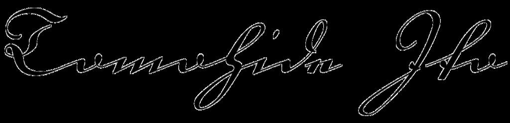 ドイツの書体で書いた署名