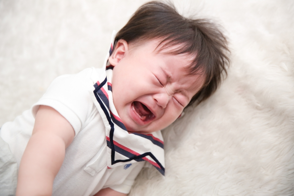 嫌がる赤ちゃん