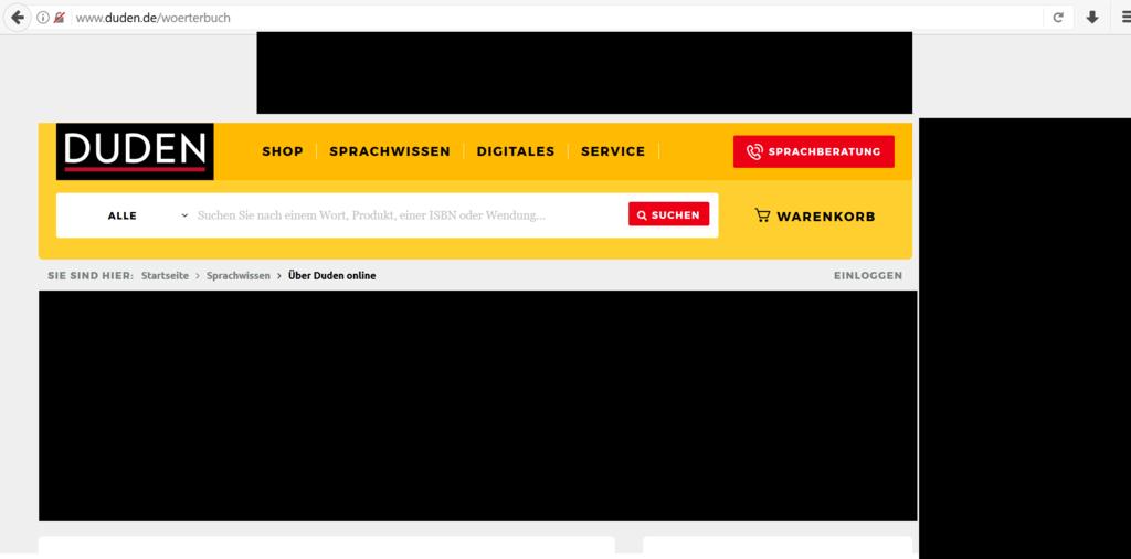 dudenのオンラインサイト