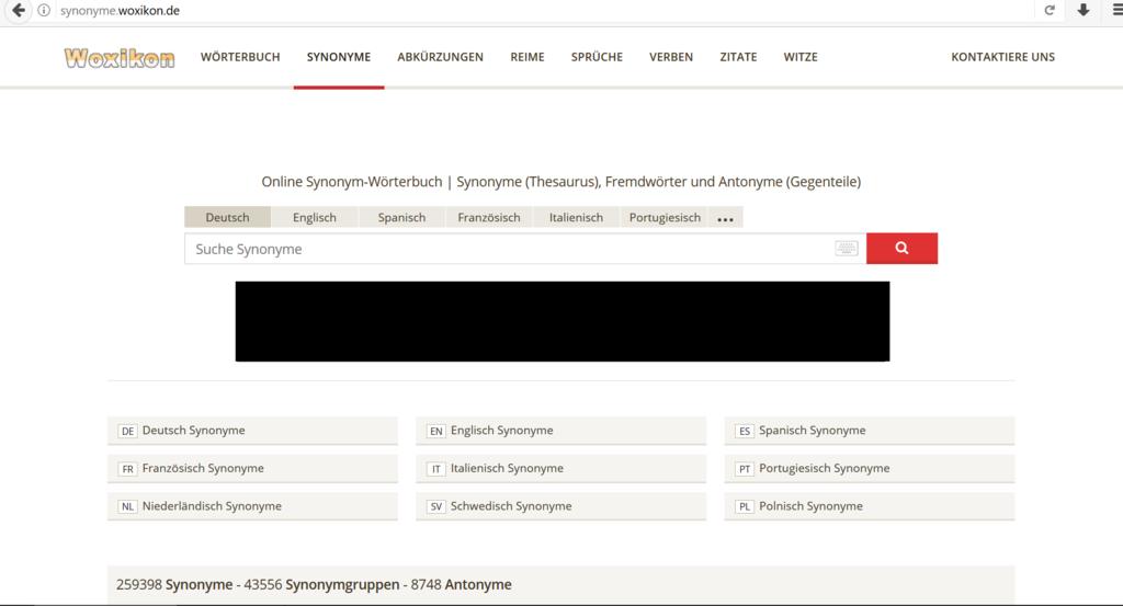 ドイツ語類義語サイト