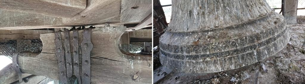 修復が極めて緊急に必要な鐘の梁部分