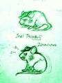 なんだ ただの ネズミか