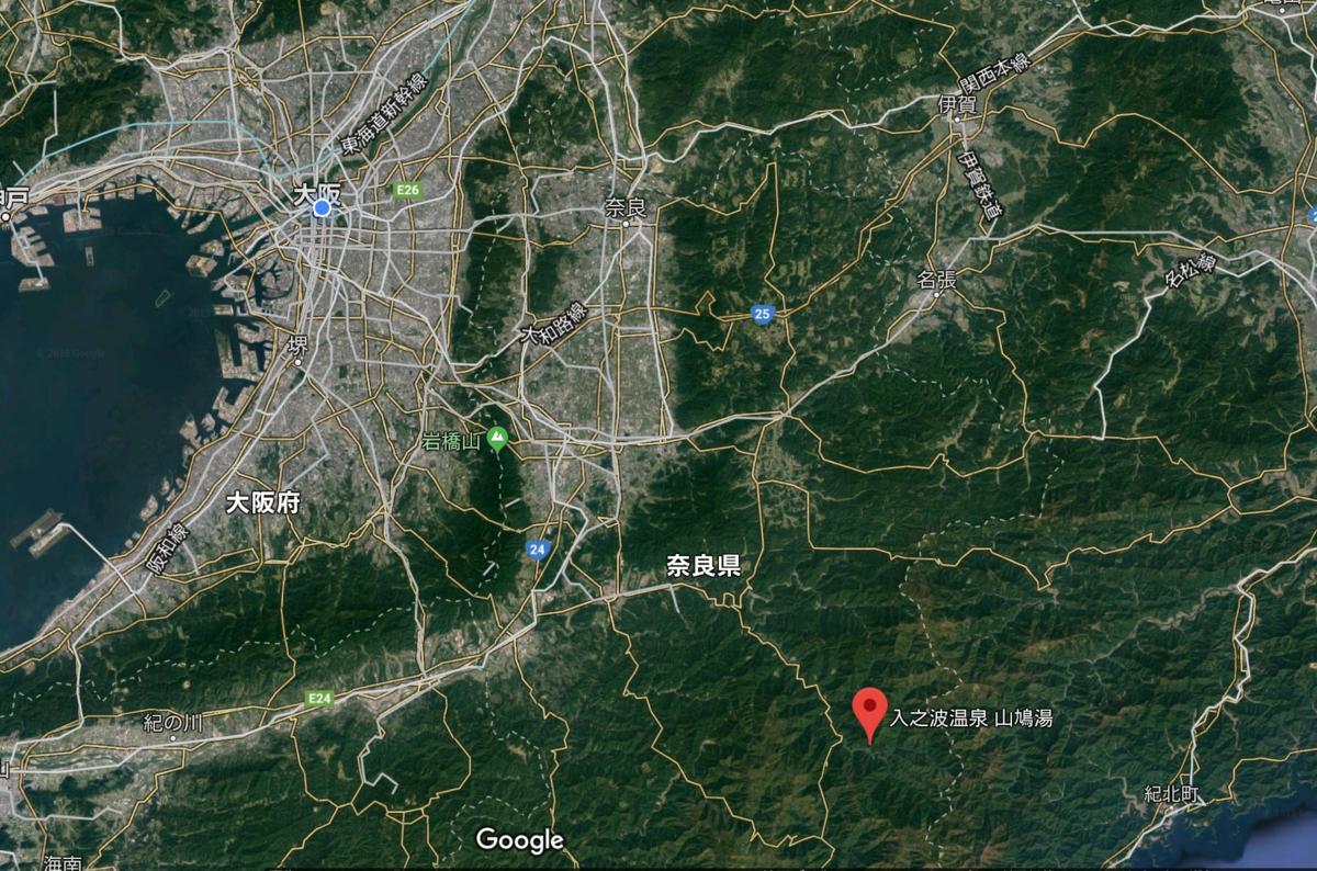山鳩湯の地図