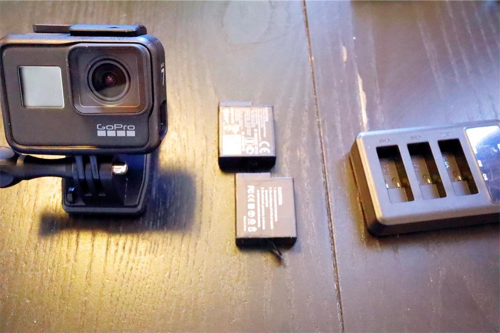 GoPro とバッテリー