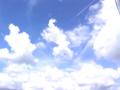 青空と雲と