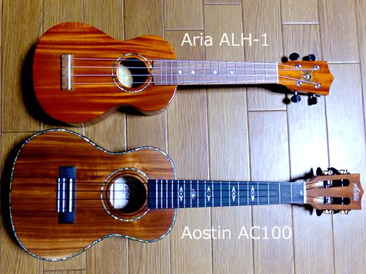 ウクレレ Aostin AC100 & Aria ALH-1