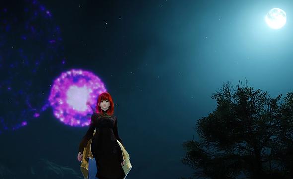 黒い砂漠:花火が見えない原因は画面設定の [エフェクト透明度] でした