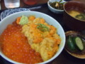 二色・うにイクラ丼定食@八食センター