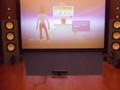 Kinectセンサーのスクリーン前への設置