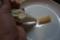 リガトーニのマスカルポーネ詰め、生ハム添え