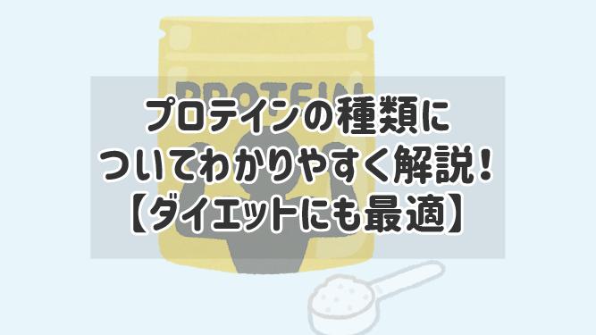 【ダイエットにも最適】プロテインの種類についてわかりやすく解説!