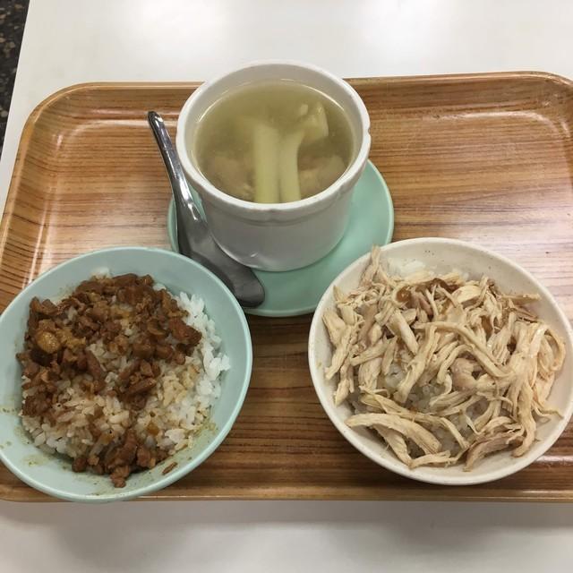 雙連街魯肉飯の魯肉飯と鶏肉飯