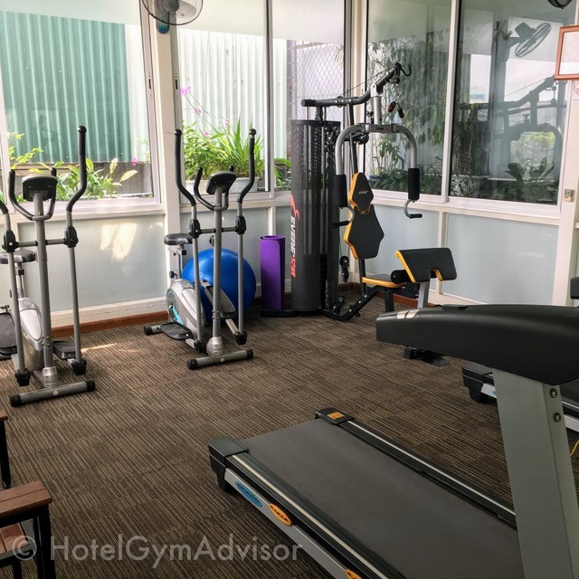 The gym in Pearl Hotel at Hanoi