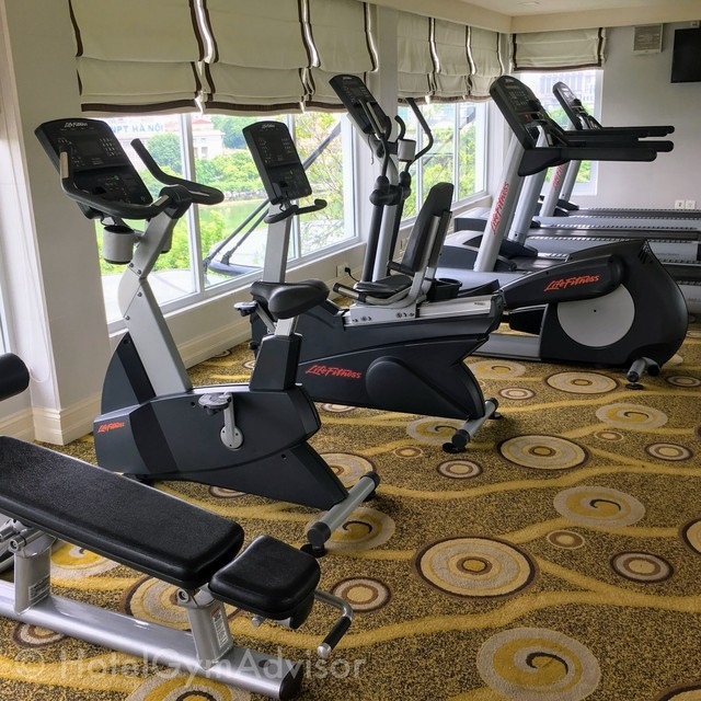 The gym in Apricot Hotel at Hanoi