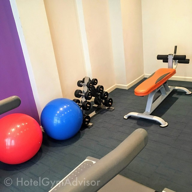 The gym in Mercure Hotel at Hanoi