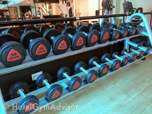 Dumbbells at Saigon Prince Hotel