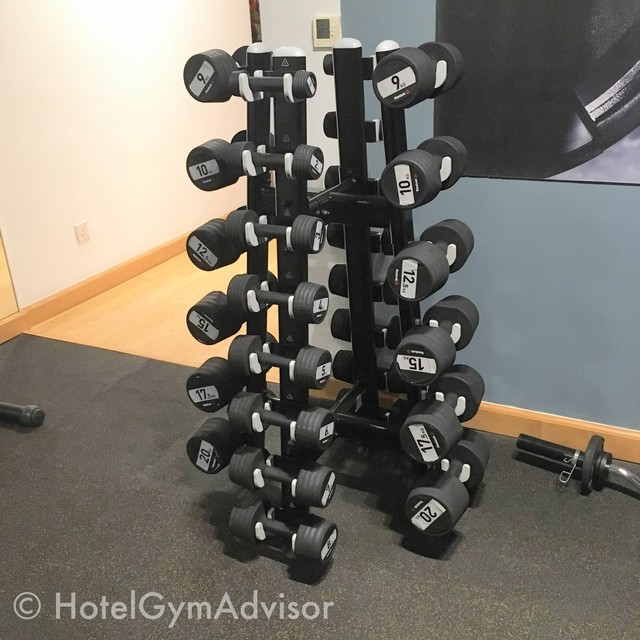 Dumbbells at Movenpick Hotel Hanoi