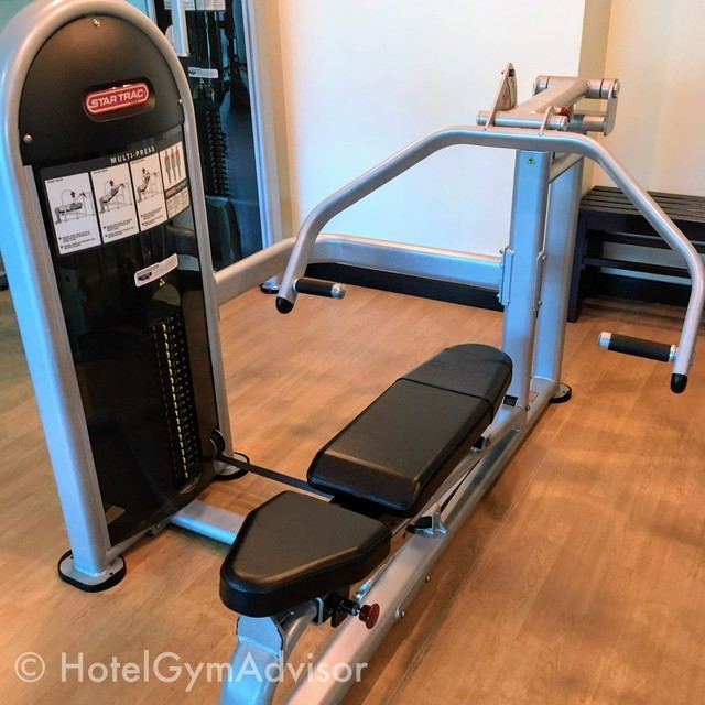 Chest/Incline/Shoulder press machine at Saigon Prince Hotel