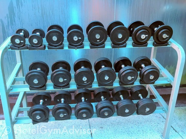 Outside dumbbells at Saigon Prince Hotel